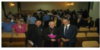 Mario Conde, en el seminario de la mano de monseñor Quinteiro