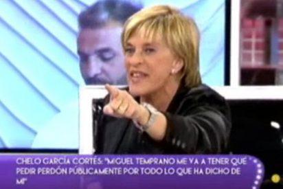 """Chelo G. Cortés por fin explota ante un ataque sin precedentes de los de 'Sálvame': """"¡A mí no me amenaza nadie, estoy cabreada como una moto!"""""""