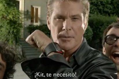 """Desternillante vídeo de David Hasselhoff en su debut en España: """"¡Qué bonitos ojos tienes, para comerte todo el coño!"""""""