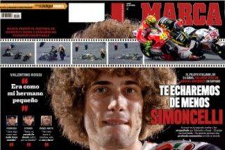 'Marca' da una lección al resto de diarios deportivos con su dedicatoria a Simoncelli