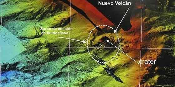 El cono del volcán de El Hierro mide 120 metros de ancho