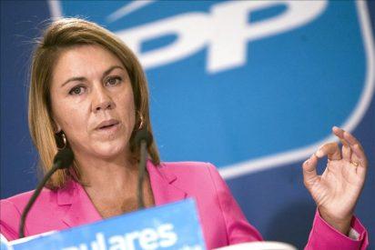 """Cospedal: """"Protestarán mucho cuando Rajoy diga todo lo que hay que hacer"""""""