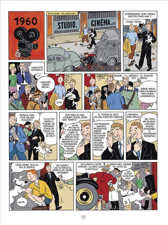 Hergé, el padre de Tintín, se convierte por primera vez en personaje de cómic