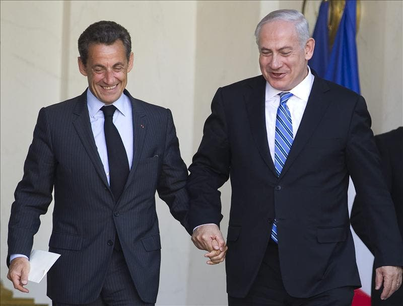 Tras llamarle mentiroso, Sarkozy envía una afectuosa carta a Netanyahu