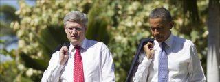 Obama y Harper abordaron el TPP y el oleoducto Keystone XL en una reunión bilateral