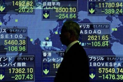 El Nikkei baja 61,77 puntos, un 0,71 por ciento, hasta 8.541,93 enteros