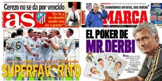 """La prensa deportiva lo tiene claro: el Madrid es """"superfavorito"""" para el derbi contra el Atlético"""