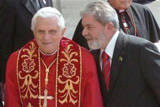 Benedicto XVI reza por la salud del expresidente brasileño Lula