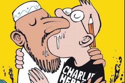 La revista 'Charlie Hebdo' vuelve a la carga con un beso homosexual