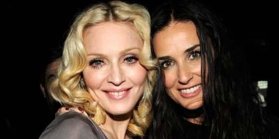 Demi Moore se divorció de Ashton Kutcher por consejo de Madonna