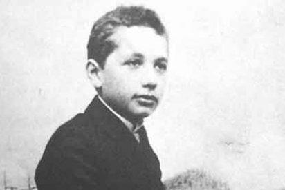 Einstein era un magnifico estudiante y sacaba buenas notas