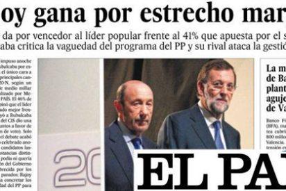 La prensa en papel sentencia: Rubalcaba a los pies de Rajoy