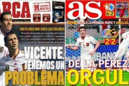 España se olvida del juego, roza el ridículo y rescata la furia