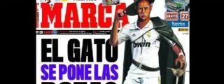 Campillo vuelve a la carga: disfraza a Benzemá como 'El Gato con Botas' en la portada de Marca