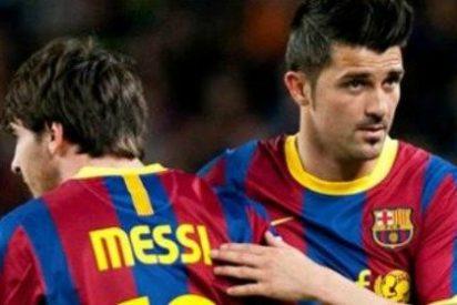 Hecatombe en el Barça: Messi y Villa no se aguantan