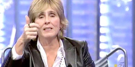"""Impagable discurso de Mercedes Milá para defender 'La Noria': """"Lecciones, las mínimas, a ver quién tira la primera piedra"""""""