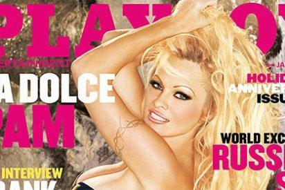 Pamela Anderson pone cara y palmito a un sello ecologista