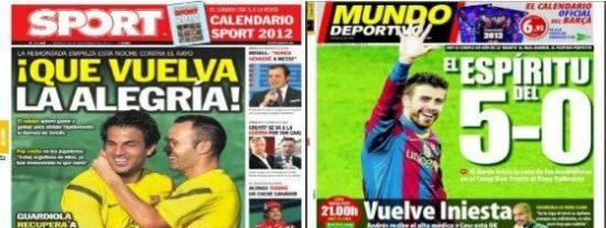 'Sport', 'Mundo Deportivo' y un mismo objetivo: levantar al Barça