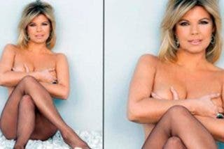 ¿Te acuerdas cuándo Terelu Campos posó desnuda pero con medias en 'Interviú'?