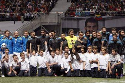 El 'Partido por la Ilusión', organizado por Casillas, acabó en empate (4-4)