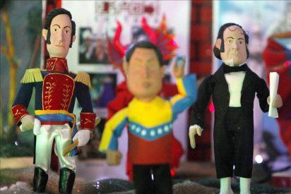 La figura de Chávez roba protagonismo al Niño Jesús en un pesebre socialista