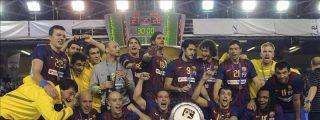 27-28. El Barcelona, campeón ante un Ademar que luchó hasta el final