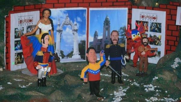 "Un belén ""chavista"" crea polémica en una polarizada Venezuela"