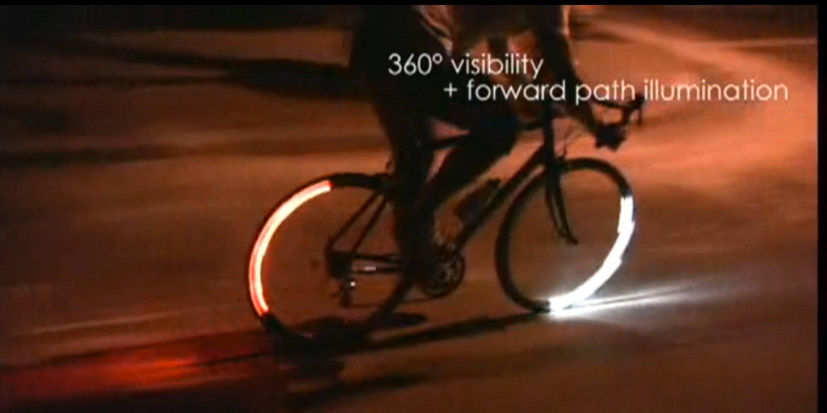 La última revolución: bicicletas con luz inteligente para la noche