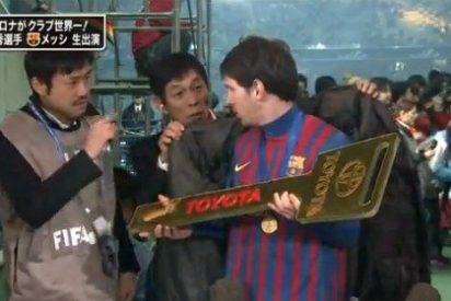 La televisión japonesa vacila a Messi en una entrevista y el argentino se marcha