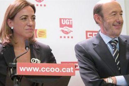 """""""Rubalcaba y Chacón se disputan los despojos en que han convertido al PSOE"""""""