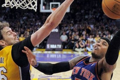 Gasol y Bryant tumban a New York Knicks en el Staples Center (99-82)