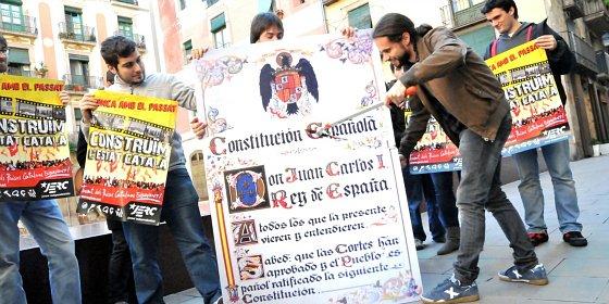 Sólo PP y Ciudadanos celebran la Constitución en Cataluña