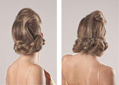 Un pelo recogido y un maquillaje para Navidad