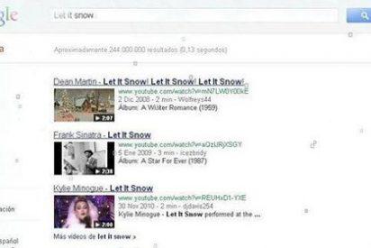 Sorpresa por Navidad: la nieve cubre las búsquedas de Google