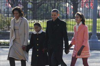 Los Obama assiten a un servicio religioso