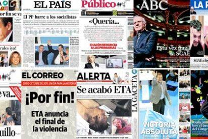 Las portadas del 2011: el hundimiento socialista y la victoria absoluta de Rajoy