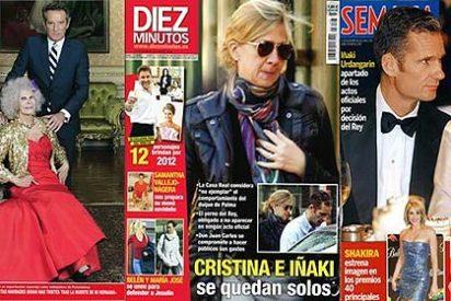 El 'embrollo' de Urdangarín y la Infanta Cristina sigue copando portadas