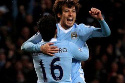 Silva mantiene al Manchester City líder de la Premier League