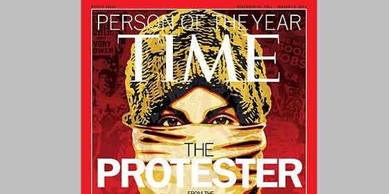 El 15-M y la protesta global, personaje del año para la revista 'Time'