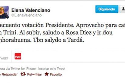 Espectacular mensaje de Elena Valenciano en Twitter desde el Congreso: cuatro erratas en 21 palabras