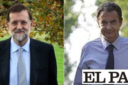 Una foto de Mariano Rajoy en El País le provocó un ataque de cuernos a Rubalcaba en plena campaña