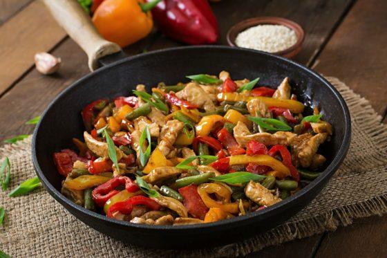 recetas de wok de pollo fáciles