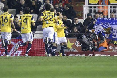 0-1. La Real cierra su herida copera ante un Valencia indolente