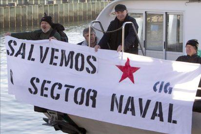 El naval vigués marcha por O Morrazo para lanzar un mensaje de emergencia