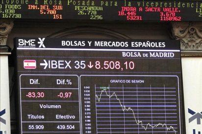 La Bolsa española cae el 1,30 por ciento a mediodía por los grandes valores