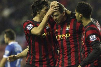 El Man. City reafirma su liderato de la Premier ante el Wigan (0-1)