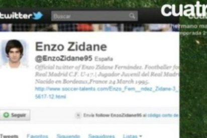 Cuatro se hace eco de las críticas del hijo de Zidane a Pepe en su Twitter sin contrastar que era un perfil falso