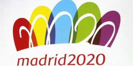 Madrid 2020 presenta a una colorida Puerta de Alcalá como logotipo