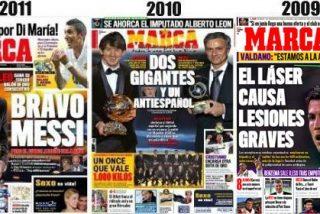 La portada de 'Marca' con el tercer Balón de Oro de Messi se lleva los elogios y entierra la etapa de Eduardo Inda