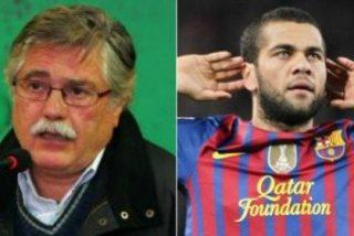 """Eladio Paramés, portavoz de Mourinho, insulta a Dani Alves en Twitter: """"Usa gafas de intelectual, pero un burro con gafas continúa siendo un burro"""""""